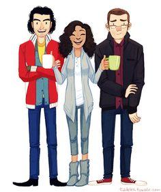 Mitchell, Annie, & George