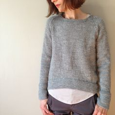 Lila, by Carrie Bostik Hoge of Madder - Ravelry Hand Knitted Sweaters, Sweater Knitting Patterns, Knitting Designs, Knit Patterns, Knitting Projects, Hand Knitting, How To Purl Knit, Knit Crochet, Knitwear