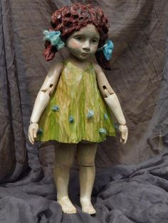 Eva Hodinkova Hand carved wooden doll