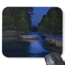 Rock Bed and River Landscape Mouse Pad