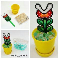 Mario flowerpot hama mini beads by renk__ahenk