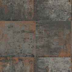 Bang on trend is this industrial-looking copper plate wallpaper from the Statement feature wall collection. Slightly textured metallic copper on a flatmattgrey background.