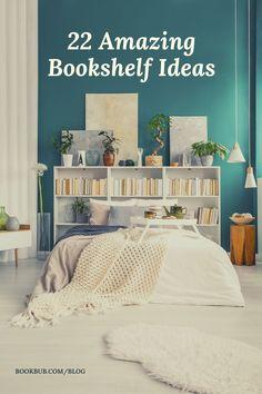 Check out this list for massive bookshelf inspiration!   #books #bookshelf #bookshelves