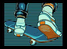 skate board stripes vector tshirt design on Skateboard Design, Skateboard Art, Surfboard Art, Skate Bords, Skate Logo, Spitfire Skate, Boy Illustration, Skate Art, Skater Girls