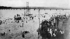 Swimmers at Casino Beach late 1920's-30s
