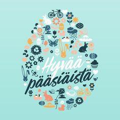 #hyvääpääsiäistä #pääsiäinen #kevät #easter #illustration #typography #mainostoimistotremedia Calm, Graphic Design, Illustration, Artwork, Instagram, Decor, Work Of Art, Decoration, Auguste Rodin Artwork