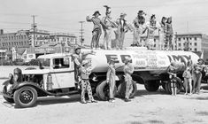 1932 Ford Gasoline Tanker One of four Wiltshire early Ford V-8 powered tank trucks that were photographed in 1933 as part of a movie promotion. Note the extra large sized radiator that was fitted to many of the trucks.