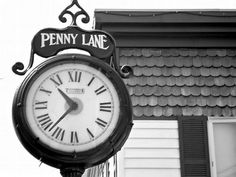 Penny Lane, Clock, 8 x 10 photograph, print, Beatles, Rehoboth Beach, Industrial, Black and White, Home Decor, Gift on Etsy, $25.00