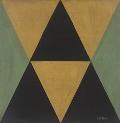Arnaldo Ferrari, Sem Título, anos 1950 (óleo s papel, 40 x 40cm)