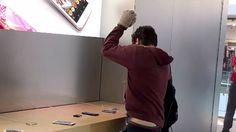 Destruyó equipos en una tienda Apple y salió como si nada pasara - Cooperativa.cl