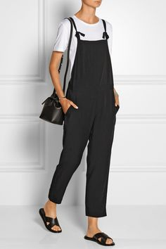 Madewell Cropped voile overalls NET-A-PORTER.COM
