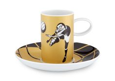 EUSÉBIO by António Antunes | Coffee Cup and Saucer