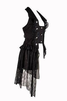 Gothic aristocrat Vest victorian gothic lolita kodona pentagramme black S-XXL