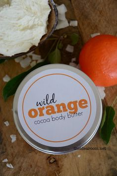 Wild Orange Body Butter - you can get the high-quality oils for this recipe here: http://www.doterra.myvoffice.com/carriestrayer/