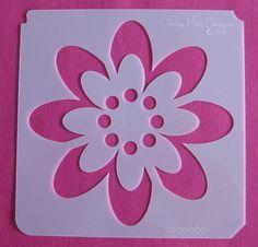 Flower Stencils   Stencil flower designs - House To Home   kitchen, bathroom