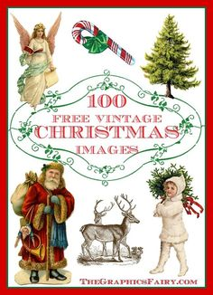 100 Free Christmas Images. These are perfect for Holiday Craft and DIY projects!
