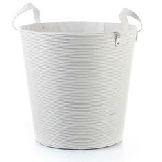 Disponible sur Boutiquedubain.com ! Panier à Linge Plastique Blanc 40cm