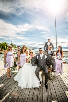 Wedding party photo session in Kelowna by Aplauso Studios