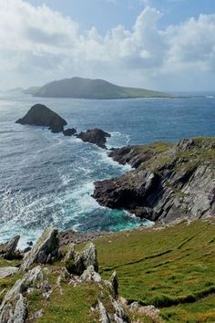 Looking out to the Blasket islands on the Dingle Peninsula.