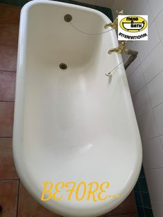 Recently repaired and resurfaced old Victorian Bathtub!! For more info, please visit our website - www.mendabathmpumalanga.co.za Bathtub, Victorian, Website, Standing Bath, Bathtubs, Bath Tube, Bath Tub, Tub, Bath