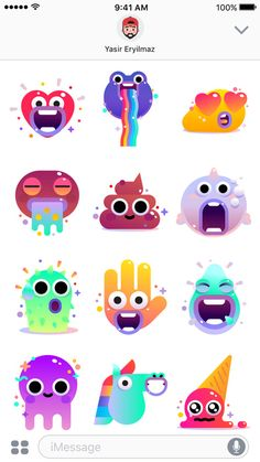 Drawing Tutorial Gummy Monsters by Sticker. Game Character Design, Character Concept, Game Design, Icon Design, Character Art, Character Illustration, Graphic Illustration, 3d Drawing Tutorial, Cute Monsters