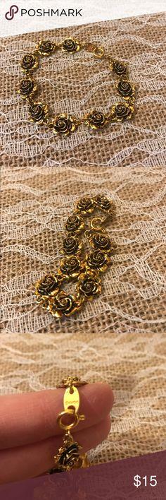 Vintage Avon Heirloom Rose Link Bracelet by WaterFrontVintage my