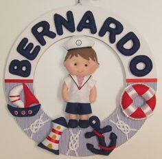 Ateliê do Bebê MG: Guirlanda Menino Marinheiro ( Bernardo )