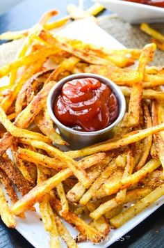 Extra Crispy Oven Baked French Fries.
