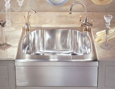 Stainless Steel Apron Sink Kitchen Remodel Pinterest Apron Sink ...