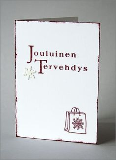 jouluinen tervehdys Place Cards, Place Card Holders