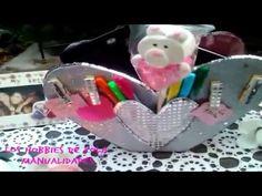 Organizador de corazon con cartón . Los hobbies de yola