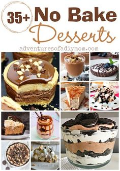 No Bake Desserts - everything from light and refreshing treats to decadent and elegant desserts Mini Desserts, Elegant Desserts, Easy No Bake Desserts, Summer Desserts, Delicious Desserts, Trifle Desserts, Holiday Desserts, Plated Desserts, Holiday Recipes