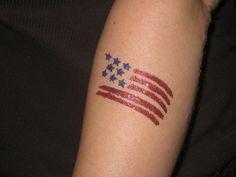 black ammerican flag full sleeve tattoos   american flag glitter tattoo 25 Smashing American Flag Tattoos
