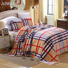 59.71$  Buy here - http://aiwyv.worlditems.win/all/product.php?id=32454615727 - 2015 new fashion comfortable modern style nice looking blanket plaid printed throw blanket high quality flannel blankets RZ-002
