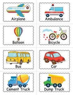 Transportation Themed Game - Transportation BINGO by Drag Drop Learning Matching Games For Toddlers, Bingo For Kids, Life Skills Activities, Learning Games, Ambulance, Infant Activities, Preschool Activities, Printable Bingo Games, Pre Writing Practice