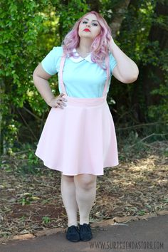 Fat Fashion, Plus Size Fashion, Fashion Outfits, Pastel Fashion, Kawaii Fashion, Moda Vintage, Vintage Retro, Old Is Cool, Estilo Harajuku