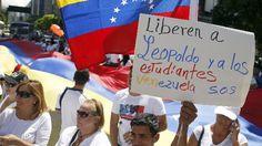 Protesto pede libertação doopositor López, preso há um ano - Mundo - Notícia - VEJA.com