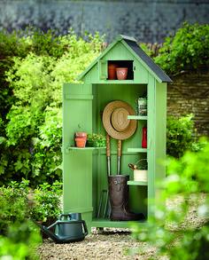 Garden storage: 15 space saving ideas that aren't sheds Garden Huts, Cottage Garden Plants, Garden Trellis, Garden Fencing, Wrought Iron Garden Furniture, Rattan Garden Furniture, Garden Tool Shed, Garden Storage Shed, Gardens