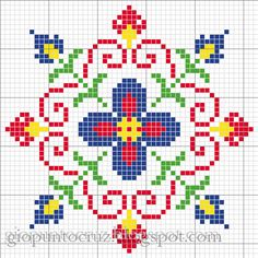 ♥ Korsstygns-store ♥: BEAUTIFUL colorful floral pattern CROSS STITCH. Several other lovely patterns in this color scheme as well.