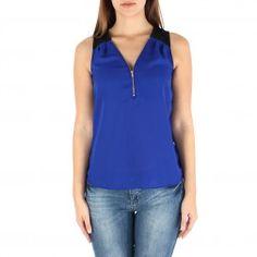 Front Zipper Sleeveless Top  - EMMA'S CLOSET