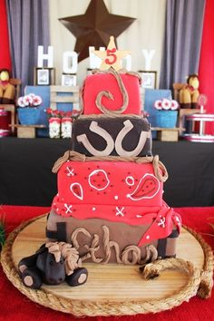 Western Cake- Love Western themed birthday parties for the Little Mister OR Little Missus :)