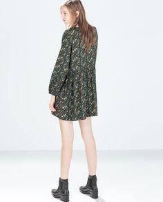 Zara United States, Boho Fashion, Bohemian, Casual, Prints, Dresses, Style, Image, Patterned Dress