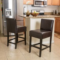 """Gibson 30"""" Barstool 2-Pack  """"I tried to assemble these bar stools myself but gave up and hired a """"handy man"""" and it took him 2 hours to assemble both chairs. The back is slanted so it gives no back support. The cushioning is minimal. About the only positive review I can give is that they look as pictured."""""""