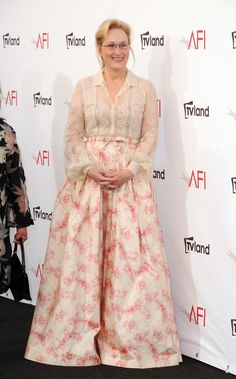 Meryl Streep wore a pretty Valentino Spring 2012 Couture.