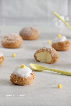 Petits choux - choux craquelins au lemon curd & petits choux glacés à la vanille