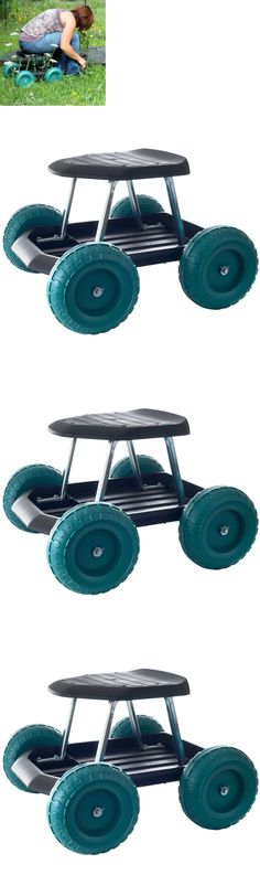 Garden Kneelers Pads And Seats 75669: Garden Carts Work Seat Stool Scooter  Rolling Wheels With Tool Tray Gardening New  U003e BUY IT NOW ONLY: $47.1 Onu2026