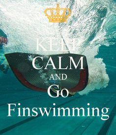 I love finswimming