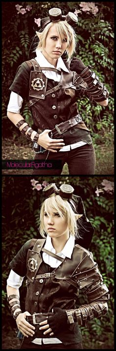 Steampunk, genderbent Link. It looks amazing, but it's like all the cosplay stereotypes went into it lol.
