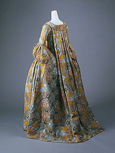 French silk dress - mid 18th century