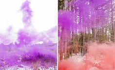 Colour smoke landscapes